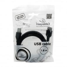 Кабель USB 2.0 удлинитель A,  1.8м проф. <CCF-USB2-AMAF-6> феррит.кольц., позол.конт., черный