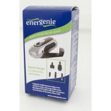 Зарядное уст-во Energenie EG-PC-002 для мобильных телефонов с ручным приводом и фонариком