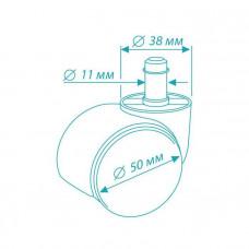 Набор колес c блокировкой, 5 штук в коробке (+201N/Castor Break) <BrakeCastorSet3850>