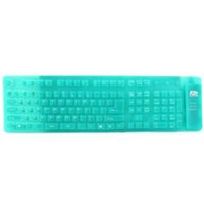 Клавиатура AgeStar AS-HSK810FA (GREEN) combo USB+ PS/2, гибкая, 109 клавиш