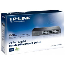 HUB TP-Link <TL-SG1024D> 24-port Gigabit Switch, 10/100/1000Mb/s