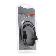 Кабель USB 2.0 A-->iPhone/iPod/iPad Gembird <CC-USB-AP1MB> 1м, черный