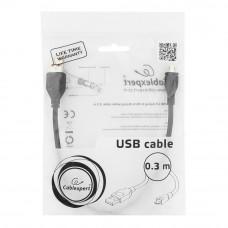 Кабель USB 2.0 A-->microB 5P  0.3м <Gembird/Cablexpert> <CCP-mUSB2-AMBM-0.3M>