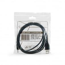 Кабель USB 2.0 A-->DC 3,5мм (для хабов) 1.8м Cablexpert <CC-USB-AMP35-6>