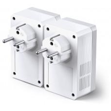 Адаптер TP-Link <TL-PA4010PKIT> Powerline адаптер 500 Мбит/с со встроенной розеткой <2 шт.>