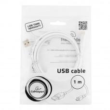 Кабель USB 2.0 A-->microB 5P  1м <Gembird/Cablexpert> <CCP-mUSB2-AMBM-W-1M>