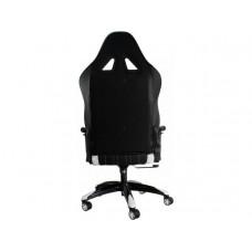 Кресло игровое CH-772/BLACK+WH две подушки белый/черный искусственная кожа (пластик черный