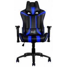 Кресло игровое Aerocool AC120 AIR-BB , черно-синее, с перфорацией, до 150 кг