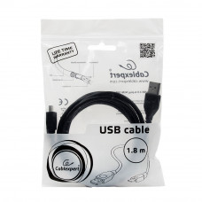 Кабель USB 2.0 A-->miniB 5P 1.8м проф. Cablexpert <CCP-USB2-AM5P-6>