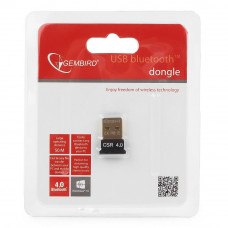 Bluetooth USB adapter Gembird <BTD-MINI5> v.4.0, 50 метров, до 24 Мбит/сек