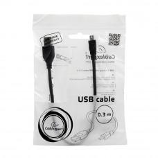 Кабель USB 2.0 A-->miniB 5P  0.3м Cablexpert <CCP-USB2-AM5P-1> проф.