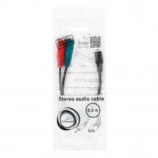 Кабель Audio MiniJack(m) - 2*MiniJack(f) Cablexpert <CCA-417> 4 pin --> науш. + микр. разв. чер.