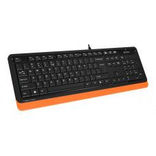 Клавиатура+мышь A4 Fstyler F1010 черный/оранжевый USB Multimedia