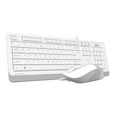 Клавиатура+мышь A4 Fstyler F1010 белый/серый USB Multimedia