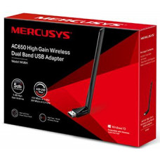 Адаптер Mercusys MU6H 2.4ГГц / 5ГГц USB 2.0 (ант.внеш.несъем.)