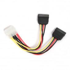 Разветвитель питания Molex(M) --> 2xSATA(F) Cablexpert CC-SATA-PSY 15см