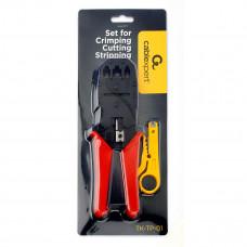 Набор инструментов Cablexpert TK-TP-01, для обжима, обрезки, зачистки и заделки витой пары