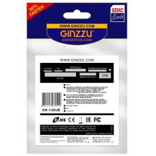 "Card Reader Int.3.5"" <Black> Ginzzu <GR-136UB> + 1 USB port"