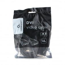 Кабель DVI single link 1.8м Cablexpert <CC-DVIL-BK-6> экран, феррит.кольца,черный